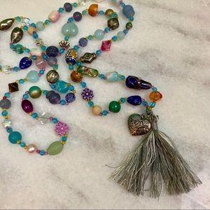 handmade • gemini season multicolored beaded mala